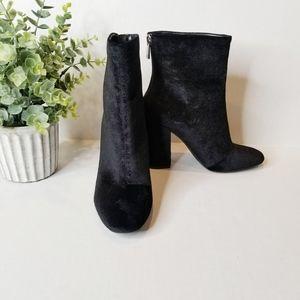 Jessica Simpson NEW Black Velvet Booties Aninada